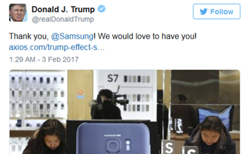 Samsung&trump